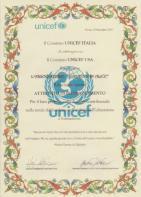 Riconoscimento UNICEF Ass Giardino di Alice